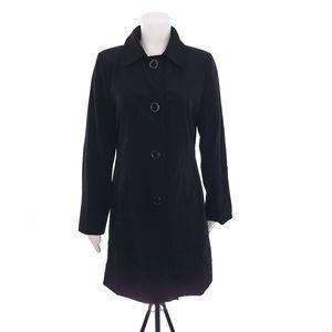 Anne Klein Black Small Womens Coat